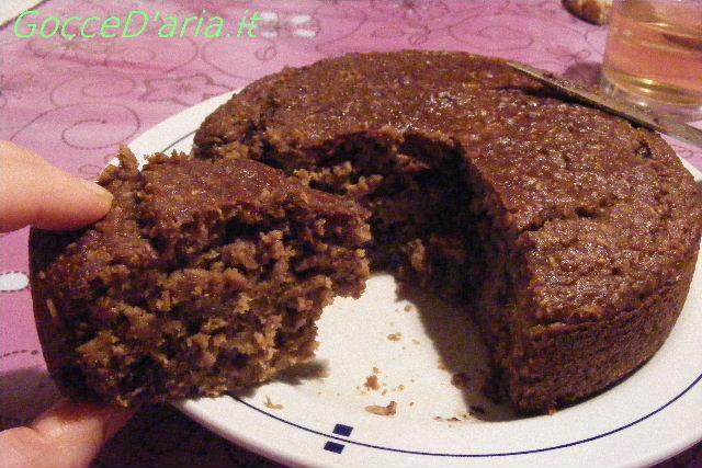 Torta di pane cocco-cioccolosa