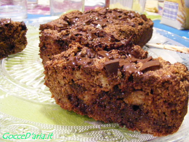 Pan di pere al cioccolato fondente