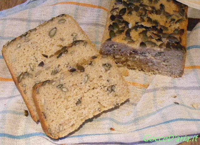 Pane senza glutine di riso e sorgo ai semi di zucca