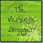 The Versatile Blogger Award - Thank you!
